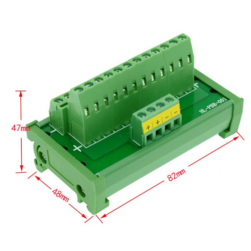 US $16 0 |DIN Rail Mount power supply distribution terminal blocks splitter  board Power Distribution Module board-in Connectors from Lights & Lighting