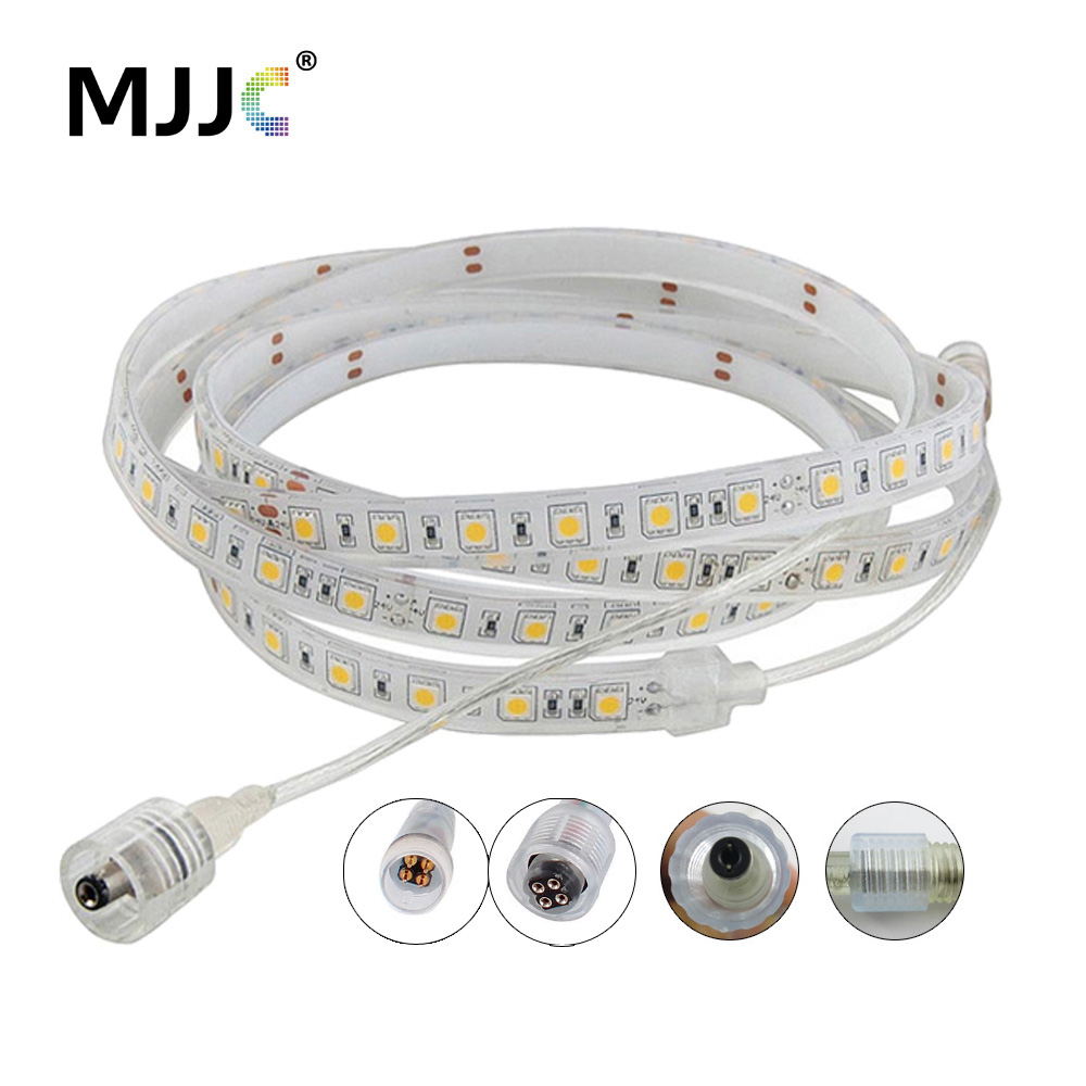 LED Strip Waterproof IP68 5M 300 SMD 5050 Flexible Ribbon Lights 12V RGB Warm Cool White LED Stripes for Swimming Pool Outdoor hml ip68 waterproof 72w 6000lm 300 smd 5050 led warm white light led strip w mini controller