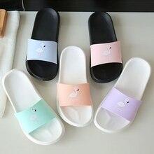KLV Fashion Women Slides Flamingo Cartoon Slippers Sandals Beach Shoes Flip Flops EVA + Rubber