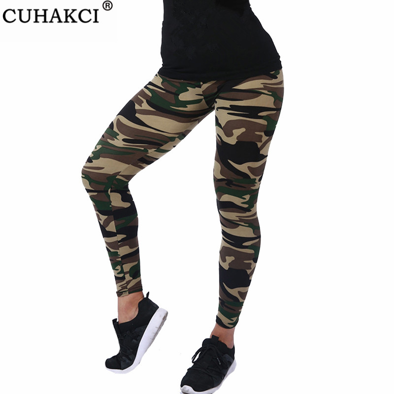 CUHAKCI New Brands Women Leggings High Elastic Skinny Camouflage Legging Spring Autumn Leggins Slimming Women Leisure Pant