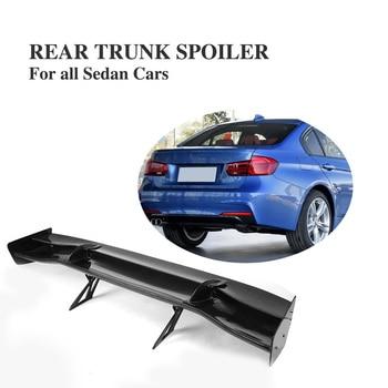 8PCS/Set Universal Carbon Fiber Rear Boot Trunk Tail Spoiler Wing Fit For Any Sedan Car