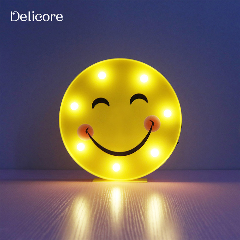 DELICORE Novelty Cool Face Night Light Children Bedroom Nursery ...