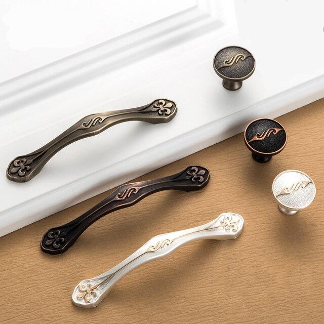 5 pz antico maniglie delle porte vintage tiri del cassetto manopole armadio da cucina e maniglie
