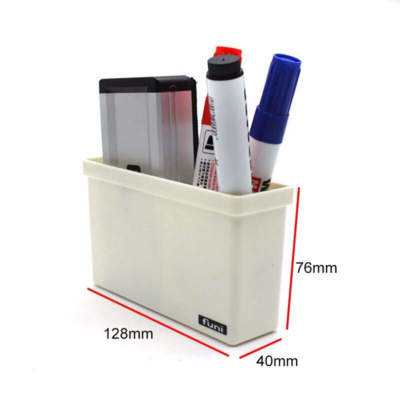 Plastic Blackboard Chalk Pens Desk Storage Magnetic Storage Organiser Drawer Box Home Storage Boxes 128*40*76mm