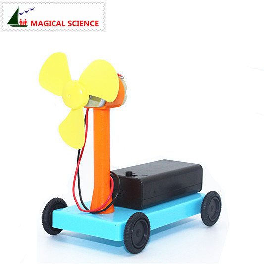 MAGICAL SCIENCE Wind trolley experiment Homemade wind driving <font><b>force</b></font> car DIY materials,home school educational kit for kids