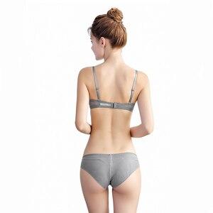 Image 5 - Varsbaby seksi kadın şeffaf dantel derin V iç çamaşırı Ultra ince 2 sutyen setleri/Lot