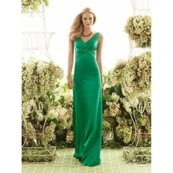 b6a64a60e2 US $116.69 |Trasporto veloce elegante lungo verde smeraldo abito da  damigella d'onore 2015 cinghie di spaghetti party dress una linea di raso  vestido ...