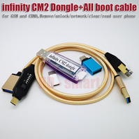 100% original infinity CM2  BOX Dongle + UMF All boot cable for GSM and CDMA Remove/unlock/network/clear/read user phone|Communications Parts| |  -