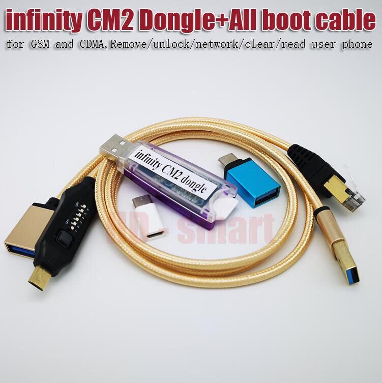 100% original infinity CM2 BOX Dongle + UMF tous les câbles de démarrage pour GSM et CDMA, supprimer/déverrouiller/réseau/effacer/lire le téléphone utilisateur