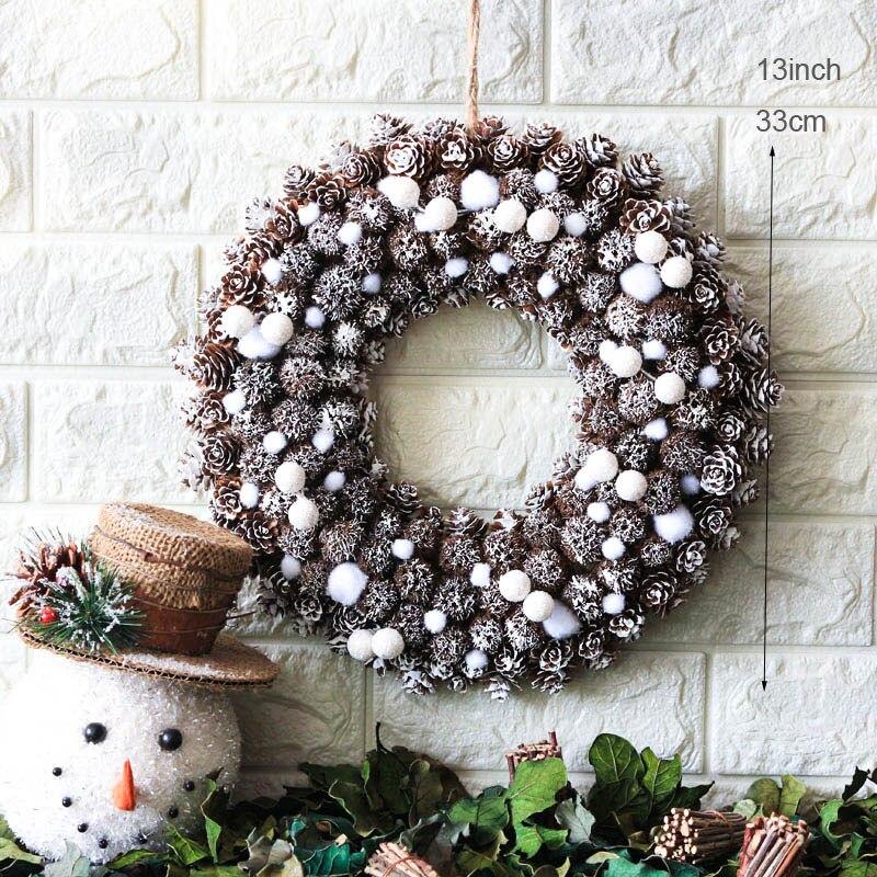 Frozen Christmas Decorations.Us 17 0 20 Off Snow Noel Wreath Natale Frozen Christmas Decorations Navidad Home Decor Wreaths Handcraft Door Wreath Wedding Party Decoration In