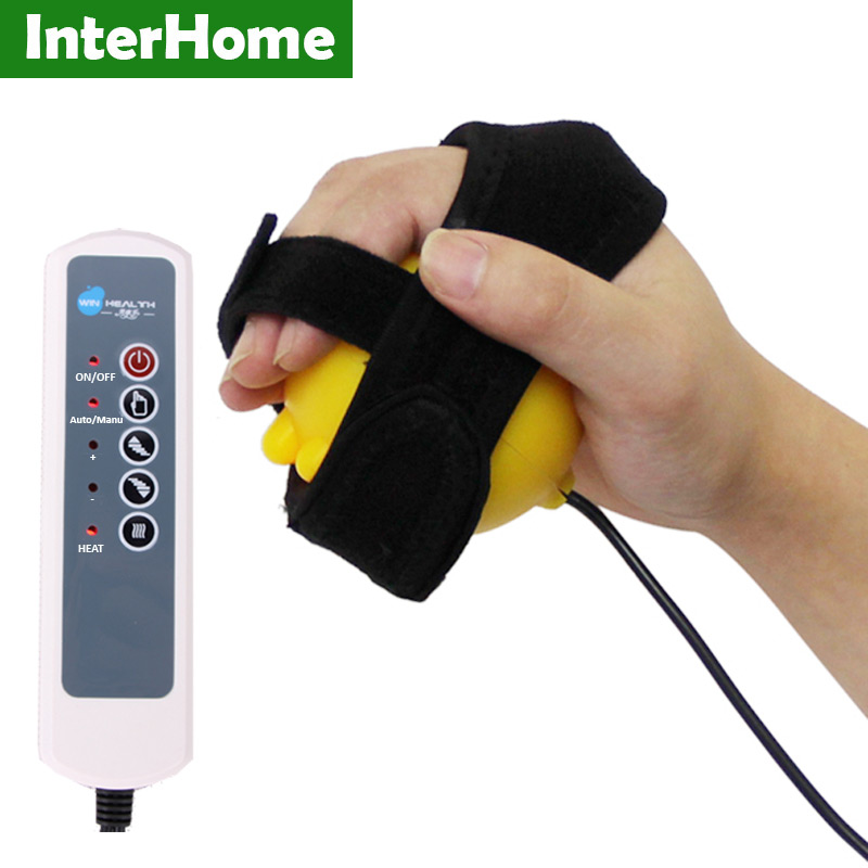 Infrared Hot Compress Hand Massage Ball Hands Inability Exercise Equipment Fix Tape Vibrating Massager for Apoplexy Hemiplegia