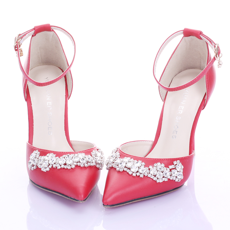 Summer white bridal shoes ultra high heels thin heels strap formal dress shoes aesthetic pointed toe sandals