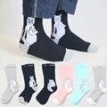 3 Pairs/lot RipNDip Pink Socks Brand Designer Cartoon Cheap Cat Women Men Socks Winter Thicken The Bottom Towel Terry Socks