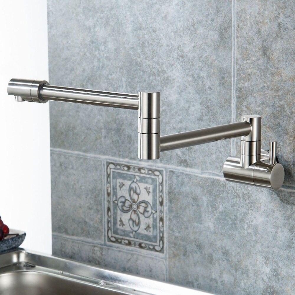 Online Shop Free shipping Brass kitchen faucet Single Handle Pot ...