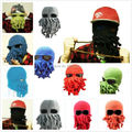 NEW ARRIVAL Novelty Handmade Funny Beard Octopus Ski Hat Crochet Squid  Knitted Head Mask Beanies Cap Unisex Gift Mix Colors