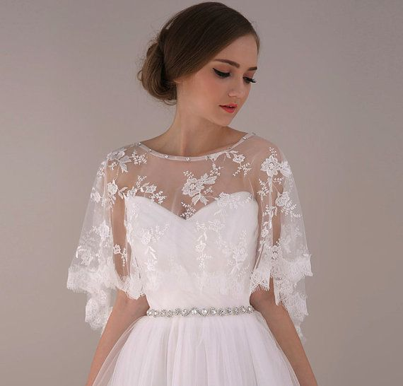 New Fashion Wedding Dress Jacket Long Sleeve Ivory Lace Jacket Dress Wedding Accessories Lace Moroccan Kaftan Ballkleider 2017