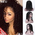 Full Lace Human Hair Curly Wigs For Black Women Human Hair Front Lace Wigs Curly Wigs,Cheap Remy Lace Front Wigs With Baby Hair