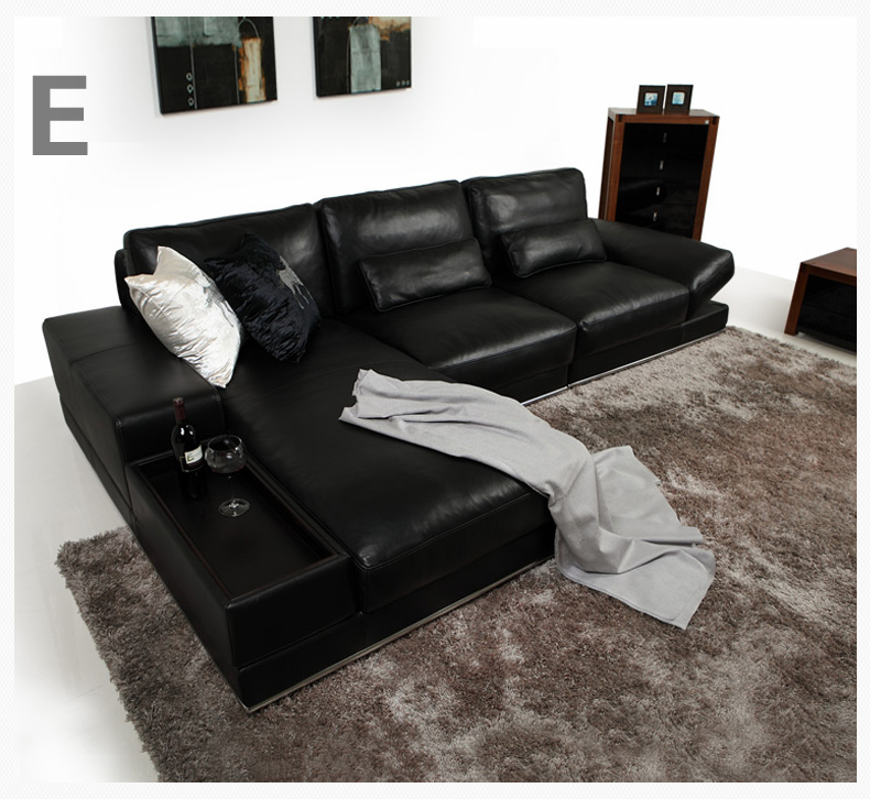 All Black Leather Sofa Living Room Sofa Set Modern Leather Sofa Foshan  Nav223 In Living Room Sofas From Furniture On Aliexpress.com | Alibaba Group