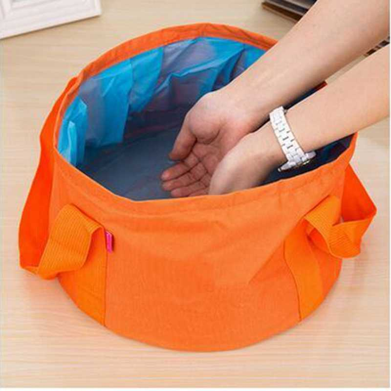 15L Collapsible Portable Outdoor Travel Foldable Folding Camping Washbasin Basin Bucket Bowl Sink Washing Bag Water Bucket