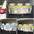 Nuevo organizador de asiento trasero de coche bolsa de almacenamiento Kick Mat tisú caja de viaje soporte de bolsa percha accesorios Sac de rangement voiture caliente