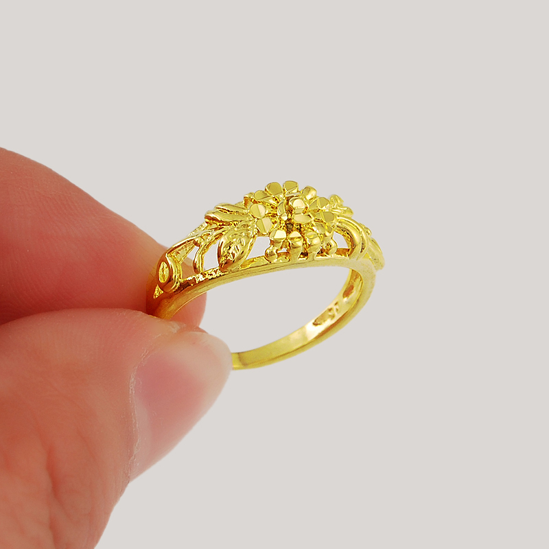 2015 New Fashion 24k Gold Colou Rings Top Quality Wedding