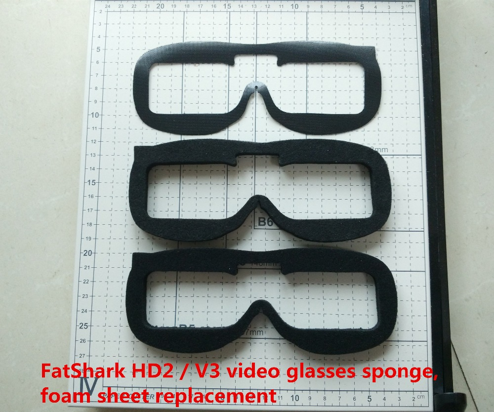 FPV Mini Quadcopter FatShark HD2 V3 video glasses sponge foam sheet replacement