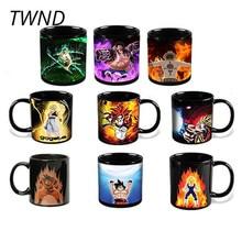 Anime Dragon Ball One Pieces Coffee Mugs Color Change Cups and Mugs Creative Tea Magic Mark Drinkware