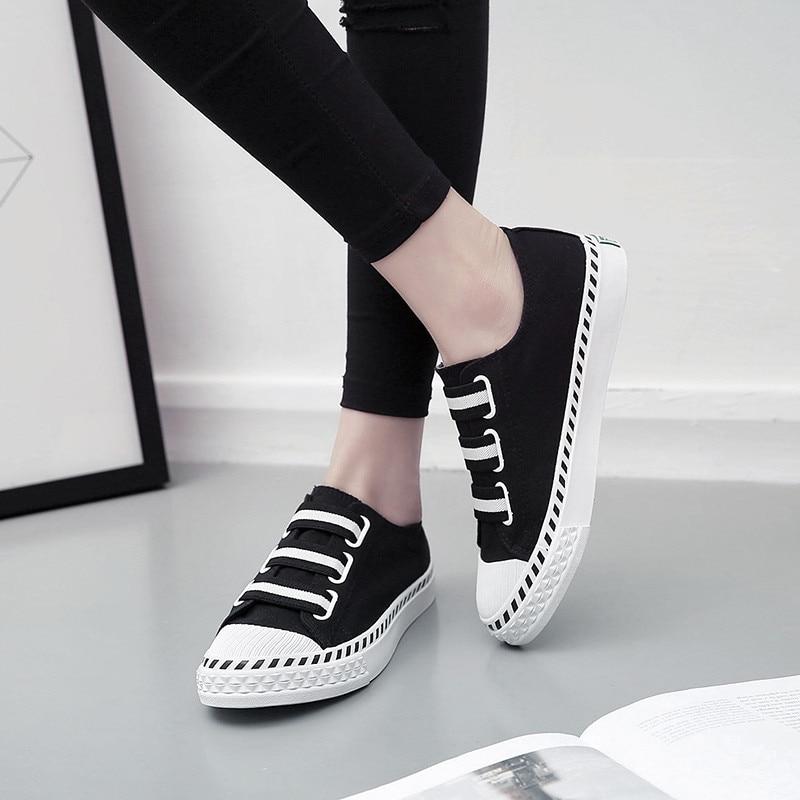 jaune Version Étudiants Printemps Casual Coréenne vert Des Et Noir D'été Blanc Conseil blanc Chaussures 2017 Femme Toile wa0Uqdxvv