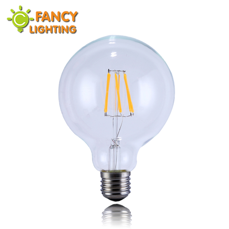 Buy Led Lamp E27 Light Bulbs G95 Vintage Edison Filament Lights 110v 220v Power