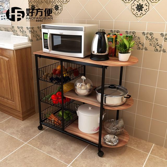 Good Convenient Kitchen Shelf Microwave Oven Shelf Storage Rack Floor  Kitchen Storage Rack Shelf