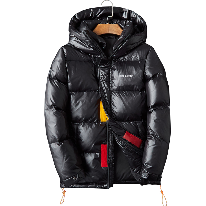 2019 New Arrival Winter High Quality 80% White Duck Down Hooded Jackets Men,print Letters Waterproof Parkas Men.plus-size B56