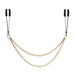 Для женщин Золотая цепочка сосок зажим БДСМ фетиш зажимы для сосков Erotico Pinzas Pezones пыток бондаж набор Фетиш сексуальные игрушки