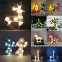 Nouveau 3D LED Animal Usine Lumière Chaude Lumière Colorée Partie Nuit Lampe Chambre Décor Cadeau * 4020