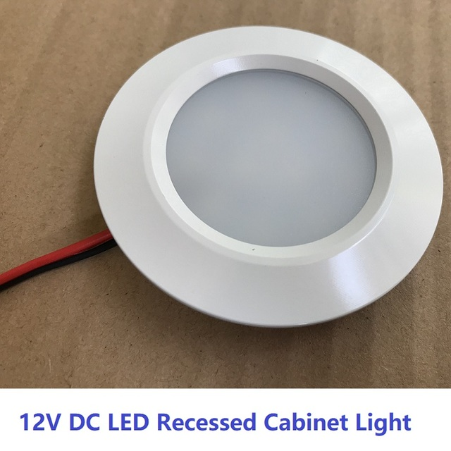 12v 2 5w led recessed down light ceiling lamp under cabin interior