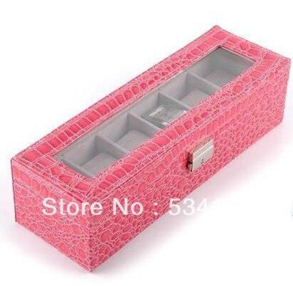 Caber em um Caixa de Relógio de Couro Pode Relógios Vendas Prático Boxes8.5 * 31 10 cm 6 Red