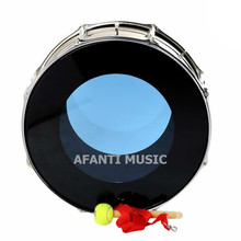 22 inch / Blue Drum Skin Afanti Music Bass Drum (BAS-1403)