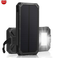 PowerGreen Solar Power Battery Charger 15000mAh Solar Powerbank Mini Solar Panel Battery Bank for Apple for Samsung