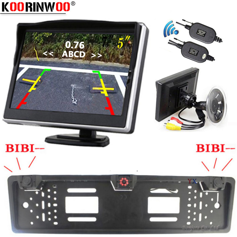 Koorinwoo 2 4G License Holder Car Parking Sensor Buzzer Monitor Window Parking Blind spot Sensor Detector