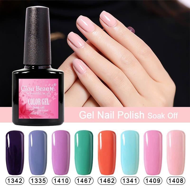 Gel Nail Polish Sale: UV Gel Polish Clou Beaute 10ml Hot Sale 90 Colors Nail Gel