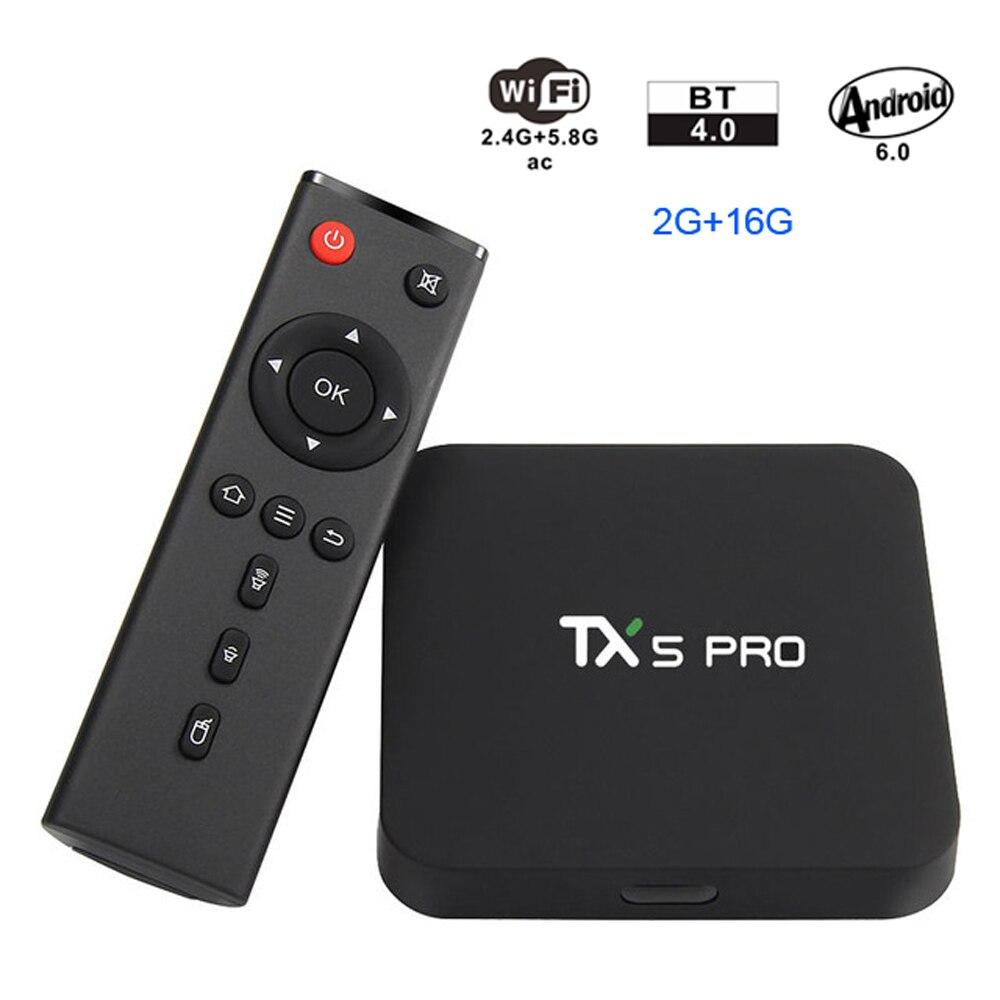 Tanix TX5 Pro Amlogic S905X 4K Android6 0 TV Box 2GHz 2G 16G KODI BT4 0