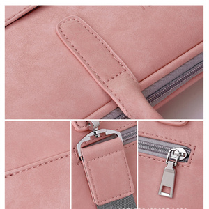 Image 4 - Moda damska skórzana torba na laptopa dla Toshiba Samsung Sony 15.6 13.3 14.1 calowa torba na komputer damska torba z Power Bag