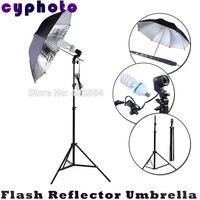 يو قوانغ التصوير استوديو إضاءة مصباح حامل أسود الفضة فلاش عاكس الناشر مظلة 150 واط 5500 كيلو لمبات