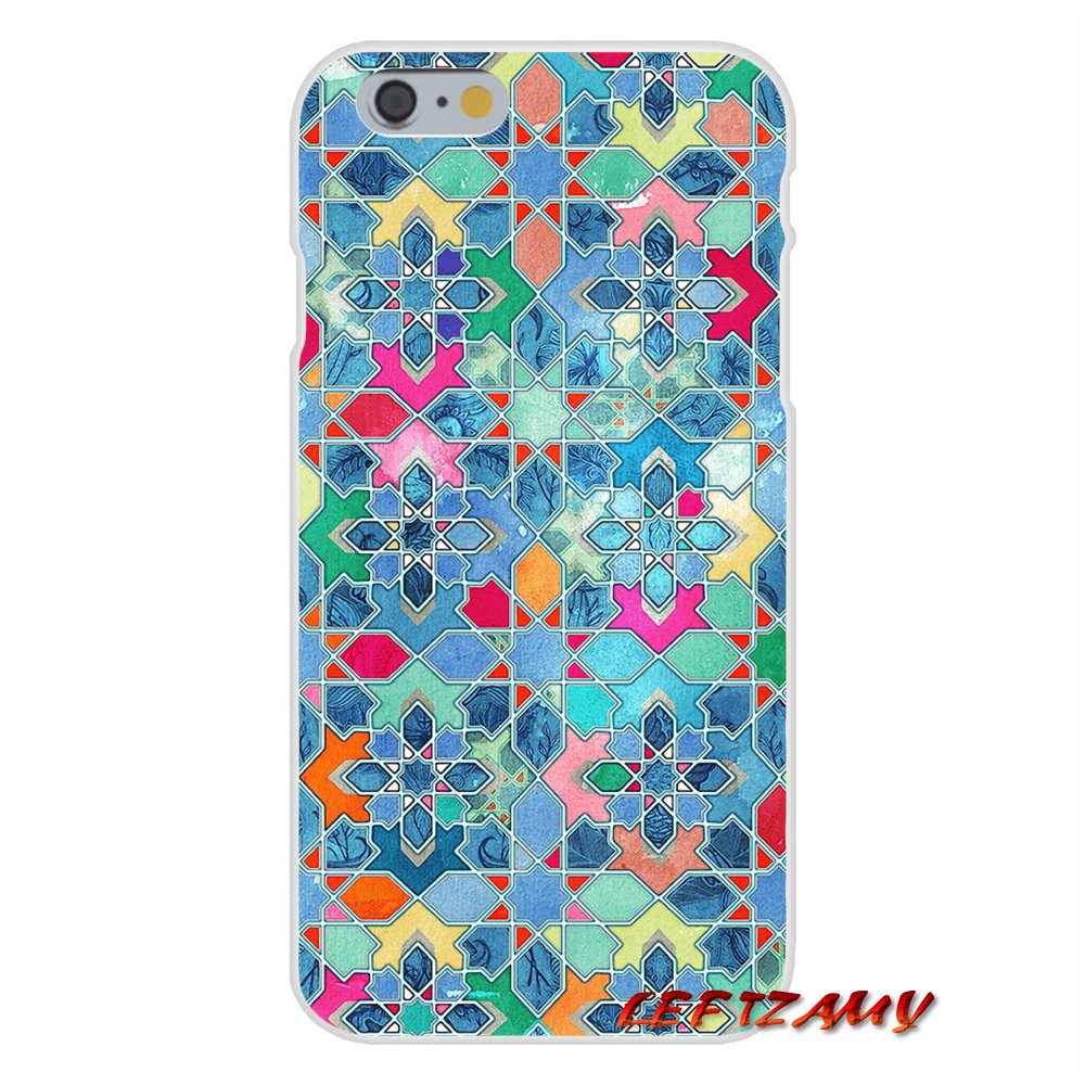 Provided Pretty Pastel Moroccan Tile Mosaic Accessories Phone Shell Covers For Iphone X Xr Xs Max 4 4s 5 5s 5c Se 6 6s 7 8 Plus Half-wrapped Case Cellphones & Telecommunications