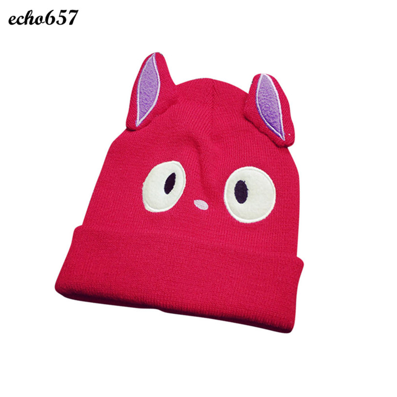 Hot Sale Women Skullies Caps Echo657 New Fashion Women Girl Cat Knitting Beanie Hip Hop Cap Warm Winter Hat Dec 22 GH