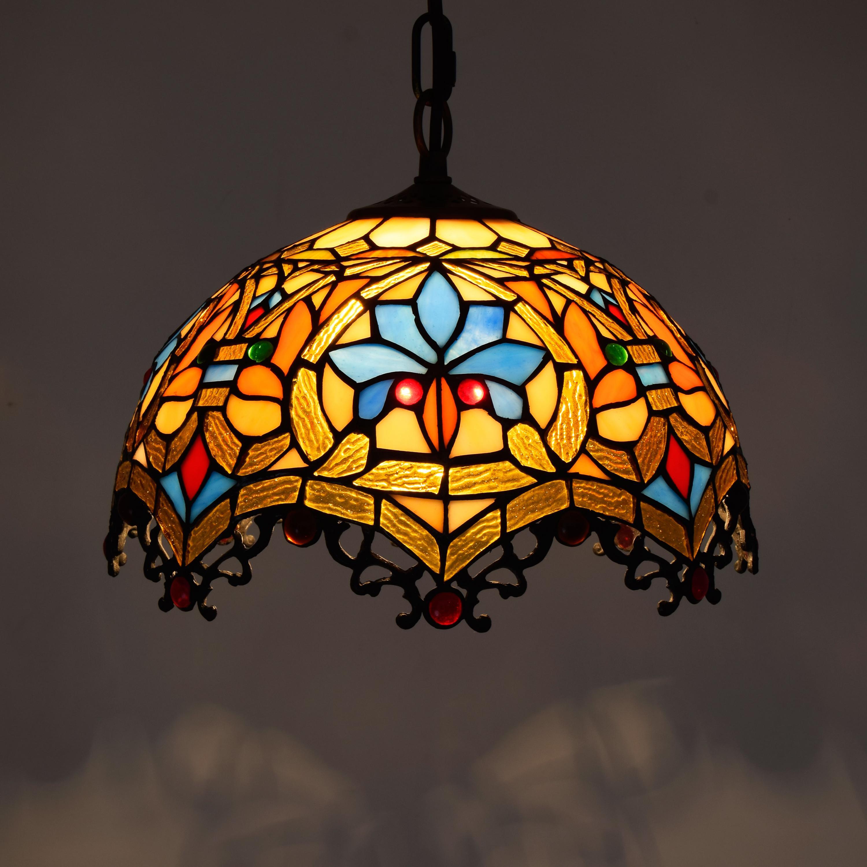 Retro bunte Tiffany lampe Glaspendelleuchte Western Restaurant ...