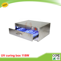 New 118W UV curing box oven machine 110V 220V with 10 rows 84 LED lights
