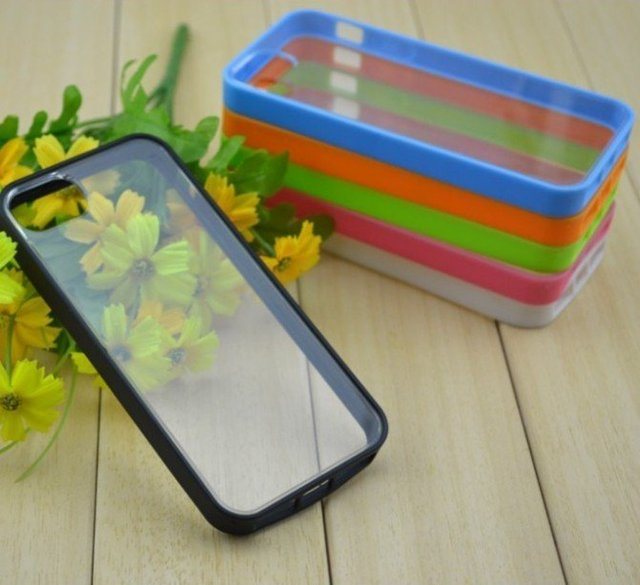 New arrival high quality TPU+PC  Case for iphone 5, clear TPU case for iphone 5 Free shipping by DHL/ EMS  wholesale
