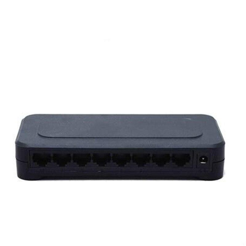 OEM 10/100 mbps RJ45 interruptor Fast Ethernet 8 puertos Lan Hub nos enchufe de la UE 5 V adaptador de la fuente de alimentación de red