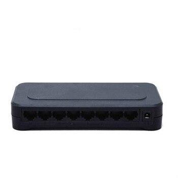 OEM 10 / 100mbps RJ45 8 Port Fast Ethernet Switch Lan Hub US EU Plug 5v Adapter Power Supply Network Switch