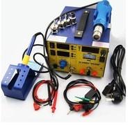 업그레이드 saike 909d + 3 in 1 핫 에어 건 재 작업 스테이션 솔더링 스테이션 dc 전원 공급 장치 220 v 또는 110 v